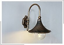 WL-ZZZ-retro / Innen- / Außenwandleuchte Europäische Art-Retro- Garten-Lampe, im Freienwand-Lampe, Gang-Wand-Beleuchtung, imprägniern im Freienkorridor-Treppenhaus-Terrasse-Beleuchtung Praktische und langlebige Lampen ( Farbe : Metallic , stil : #7 )