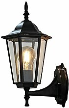 WL-ZZZ-retro / Innen- / Außenwandleuchte Europäische Art Retro- einfache im Freienwand-Lampe, Hof-Balkon-Wohnzimmer-Gasse-Landhaus-Lampen, wasserdicht und staubdicht, Aluminiumkunst-Glaslampen Praktische und langlebige Lampen ( Farbe : Schwarz )
