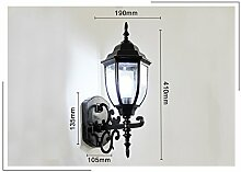 WL-ZZZ-retro / Innen- / Außenwandleuchte Europäische Art-Retro- Garten-Lampe, im Freienwand-Lampe, Gang-Wand-Beleuchtung, imprägniern im Freienkorridor-Treppenhaus-Terrasse-Beleuchtung Praktische und langlebige Lampen ( Farbe : Schwarz , stil : #6 )