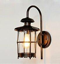 WL-ZZZ-retro / Innen- / Außenwandleuchte Europäische Retro kreative Eisen Wandleuchten , industrielle Beleuchtung Glasschirm Praktische und langlebige Lampen ( farbe : Bronze )