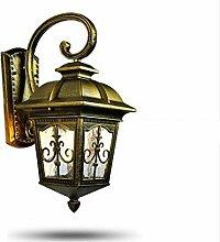 WL-ZZZ-retro / Innen- / Außenwandleuchte European-style Retro einfache Outdoor-Wandleuchte, Hof Balkon Wohnzimmer Aisle Villa Lampen, wasserdicht und staubdicht, Aluminium-Kunst Glas Lampen Praktische und langlebige Lampen ( Farbe : Metallic )