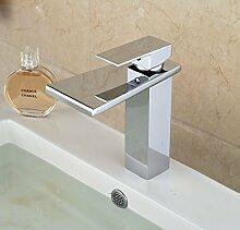 Wladimirowitsch Rosin® einzelner Loch breit Auslauf Waschbecken Wasserhahn Deck montieren One Griff Waschtischmischer, Chrom-Finish