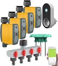 WLAN-Bewässerungscomputer, 4-Wege-Verteiler,