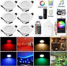 Wlan Bluetooth 5W LED Einbaustrahler RGBW+CCT 5 in