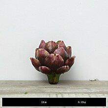WLFM Künstliche Blumen Tischdekoration Ananas und Pflanze Blüten, violett ro