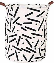 WLG Faltbarer Wäschekorb für Wäschesammler