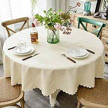 WLGQ Runde Tischdecken , Einfache nordische