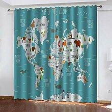 WLHRJ Blickdicht Vorhang gardine Schlafzimmer