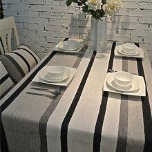 WLJL Einfacher Stil Baumwolle Esstisch Tischdecken grau 130 * 190 cm