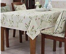 WLJL Im europäischen Stil Baumwolle Esstisch Tischdecken weiß Durchmesser 90 cm.