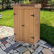 WLOWS Gartenschrank Holz, Gerätehaus Wetterfest,