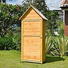 WLOWS Gerätehaus Holz, Gartenschrank Für Den