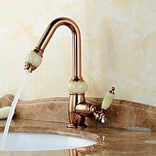 WLP-WF Badezimmer Wasserhahn Gold Messing