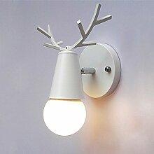 Wlxsx Kreative Eisenkunst-Wandlampe