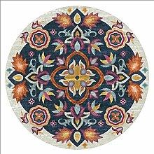 Wly&Home Runder Teppich - Mandala Teppich,