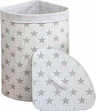 WM Homebase Wäschekorb aus Bambus Faltbar