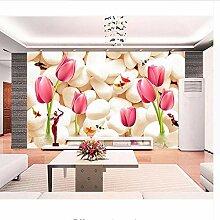 Wmbz Benutzerdefinierte Blumen Fototapete Stein