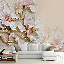 Wmbz Fototapete 3D Geprägte Magnolia Blumen