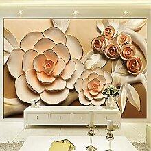 Wmbz Fototapete 3D Stereo Erleichterung Blumen