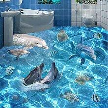 Wmbz Fototapete 3D Unterwasserwelt Delfine