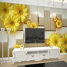 Wmbz Moderne Einfache 3D Stereo Mode Gelbe Blume