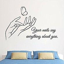 Wmbz Nagel-Art-Wand-Aufkleber-Entfernbare