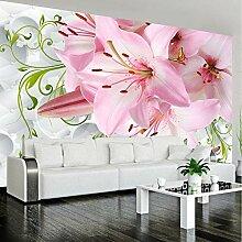 Wmbz Romantische Rosa Lilie Blumen Fototapete Für