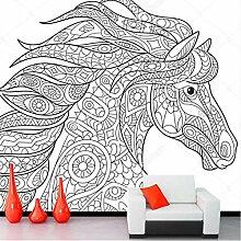 Wmbz Tapete Der Kundenspezifischen Kinder, Pferd,