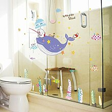 Wmbz Wandaufkleber Cartoon Badezimmer Kinderzimmer