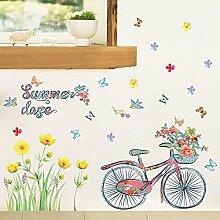 Wmbz Wandaufkleber Sommer Fahrrad Wohnzimmer Tv
