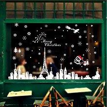 Wmbz Weihnachten Gebäude Removable Home Vinyl