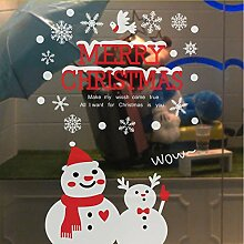 Wmbz Weihnachten Schneemann Removable Home Vinyl