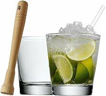 WMF Caipirinha-Set Clever & More Glas spülmaschinengeeignet Caipirinhaglas Stößel Trinkhalm