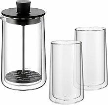 WMF Coffee Time Set 3-teilig Milchaufschäumer,