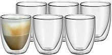 WMF Kult doppelwandige Cappuccino Gläser Set