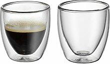 WMF Kult doppelwandige Espressotassen Glas Set