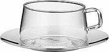 WMF TeaTime Teeglas mit Untertasse Tee-Tasse,