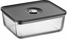 WMF Vorratsdose Depot Fresh rechteckig aus Glas mit luftdichtem Aroma Deckel und Frische Ventil Multifunktions Schale zum Vorbereiten, Aufbewahren und Servieren, 26x21cm