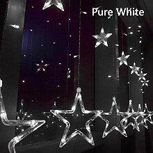 WMM 12 Sterne 138 LED-Schnur-Licht,