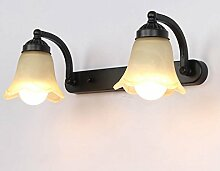 Wmshpeds Amerikanische Spiegelleuchten, LED, WC, Badezimmer Spiegelschrank, European retro, Wandspiegel, Nordic, Kosmetik, Toilettenartikel Lampen