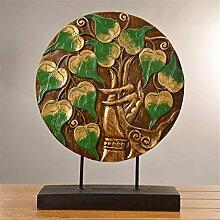 Wmshpeds Bodhi Lucky Tree, kreative retro Ornamenten, Wohnaccessoires, Wohnzimmer Eingang Dekoration, TV-Schrank Halle Dekoration