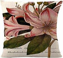 Wmshpeds Pflanze Knospe Bettwäsche Kissenbezug British wind Auto Baumwolle und Leinen Kissenbezug