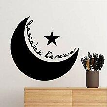 wmyzfs Islam Religion Mond Sterne Tapete Aufkleber
