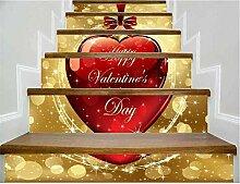 WngLei Liebe Geschenk Treppe Aufkleber 3D