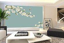 Wnyun 3D Tapete Blumen Tapeten Wandbilder für