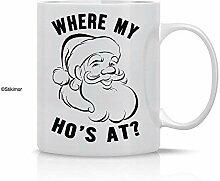 Wo meine Hos an - lustiger Sankt-Weihnachtsbecher