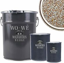 WO-WE Steinteppich SET 25kg Marmorkies + 1,5kg
