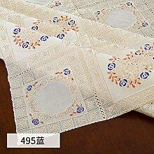 WOAINI Abwischen PVC Tischdecke,Weich Spitze