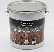 Woca Exterior Öl Anthrazit - 3 Liter -