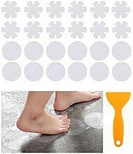 WOCLOER 24 Stück Anti Rutsch Dusche Aufkleber,